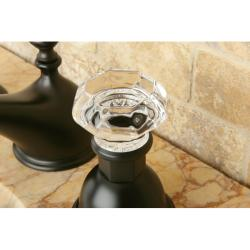 Shop Crystal Handle Oil Rubbed Bronze Widespread 3 Hole