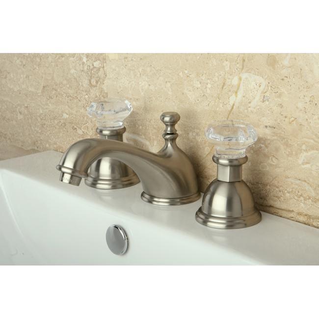 Crystal Handle Satin Nickel Widespread Bathroom Faucet Free Shipping Today