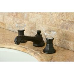 Crystal Handle Oil Rubbed Bronze Widespread Bathroom Faucet