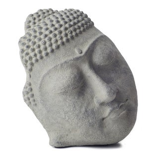 Handmade Standing Buddha Face Statue (Indonesia)