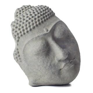 Handmade Standing Buddha Face Statue (Indonesia) (Option: Stone)