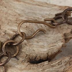 Classic Brass Soaring Sparrow Jade and Jasper Vintage Bracelet - Thumbnail 1