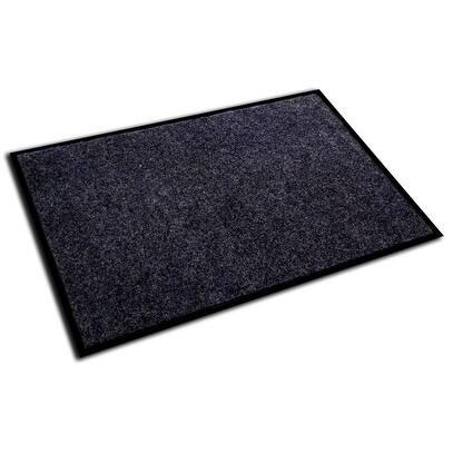 "Doortex Plushmat Indoor Entrance Mat Charcoal Gray Size 36"" x 48"" - 3' x 4'"