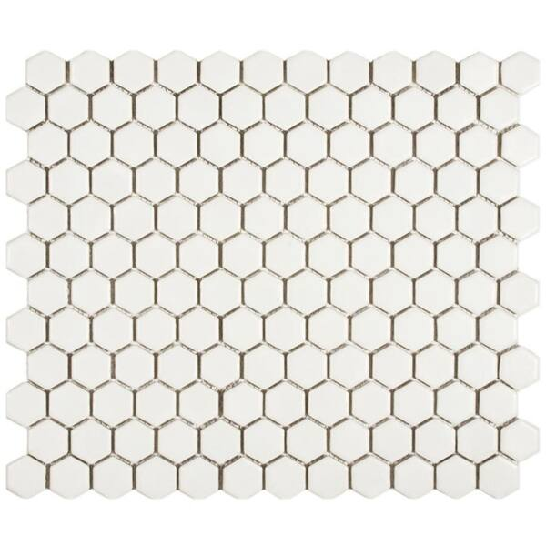 Somertile 10 25x11 75 Inch Victorian Hex Matte White