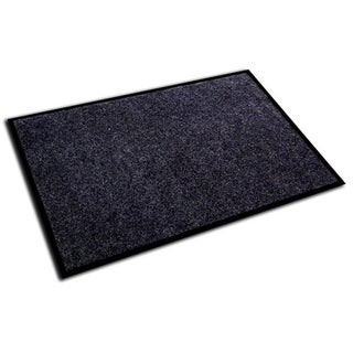 "Doortex Plushmat Indoor Entrance Mat Charcoal Gray Size 24"" x 36"""
