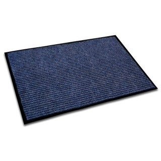 "Doortex Ribmat Indoor Entrance Mat Blue Rectangular Size 24"" x 36"""