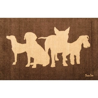 "Doortex Wash Room Mat Dog Design Size 24"" x 39"""