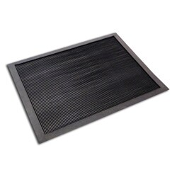 Floortex Ecotex Black 24x32-inch Brush Entrance Mat