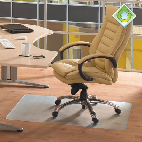"""EcoTex Revolutionmat Recycled Chair Mat For Hard Floors 100% Recycled Rectangular Size 36"""" x 48"""""""