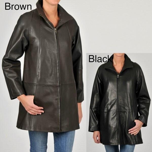 Tibor Women's Leather Swing Jacket
