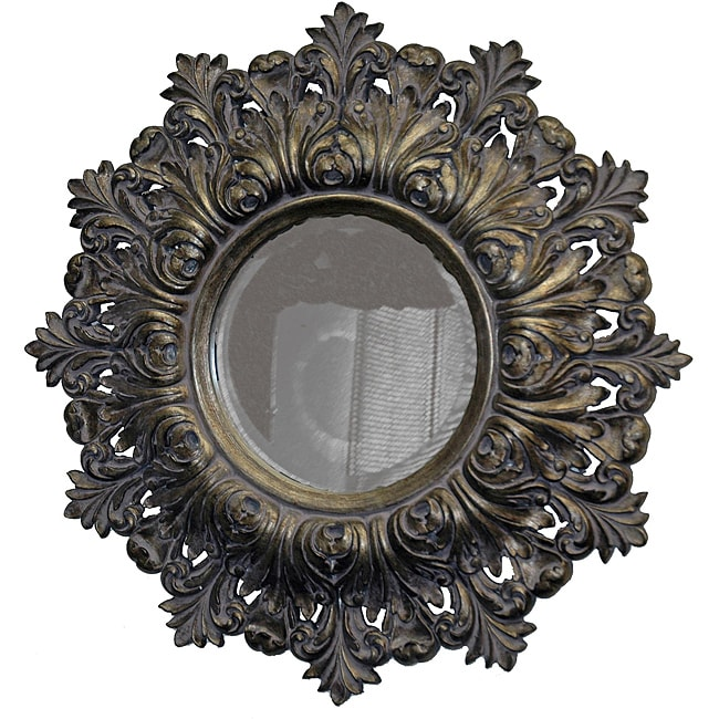 Traditional Lavender and Antique Silver Mirror
