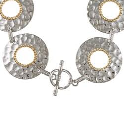 Sterling Silver Round Hammered Bracelet