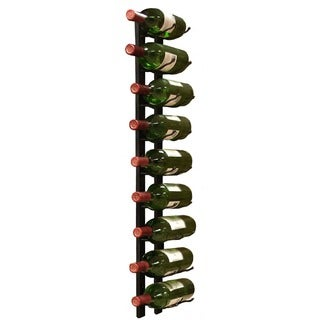 Epicureanist Wall Mount 9-Bottle Black Metal Wine Rack