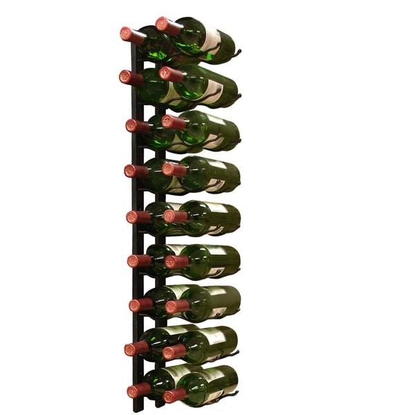 Epicureanist Wall Mount 18-bottle Black Metal Wine Rack
