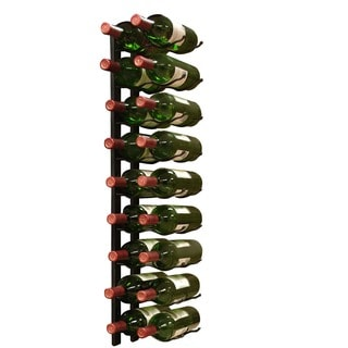 Epicureanist Wall Mount 18-bottle Black Metal Wine Rack