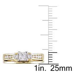 Miadora 14k Yellow Gold 3/4ct TDW Diamond Bridal Ring Set (E-F, SI1-SI2)