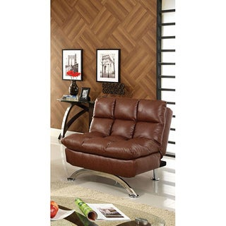Furniture of America Pascoe Bi-cast Leather Comfort Sofa Chair