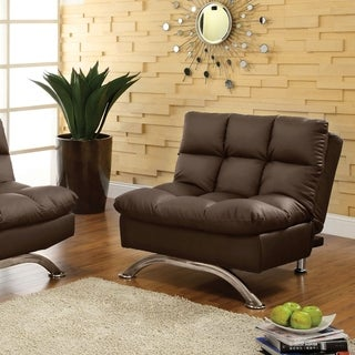 Furniture of America Pascoe Bi-cast Leather Comfort Sofa Chair