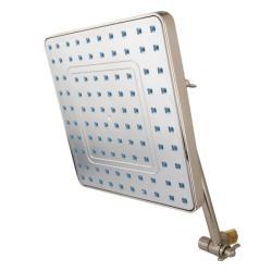 Satin Nickel 8-inch Rainfall Showerhead with Adjustable Shower Arm - Thumbnail 1