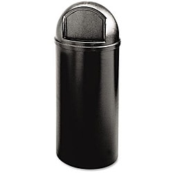 Rubbermaid Commercial Marshal 25-gallon Black Container