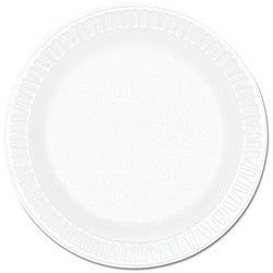 Dart Concorde 6-inch White Foam Plate (Case of 1,000)