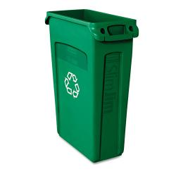 Rubbermaid 'Slim Jim' Green Vented Recycling Container