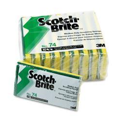Scotch Brite Medium Duty Scrubbing Sponges (Pack of 10)