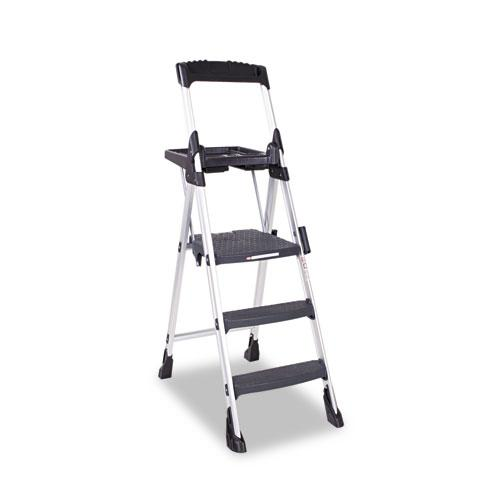 Shop Cosco 3 Step Aluminum Black Folding Step Stool Free