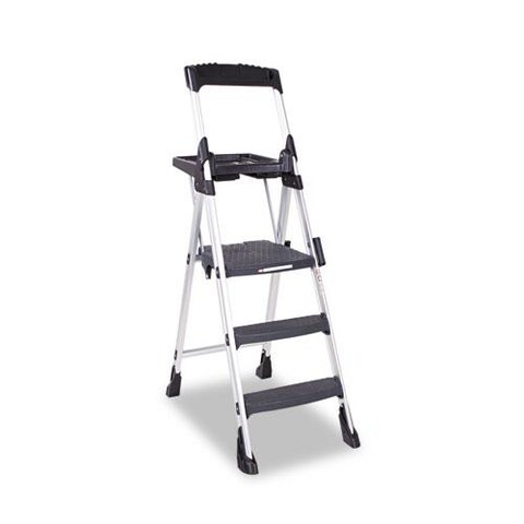 Cosco 3-step Aluminum Black Folding Step Stool