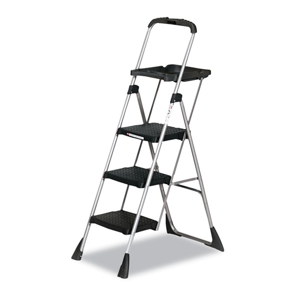 Shop Cosco Max Work Steel Platform Black Step Stool Free