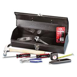 Great Neck 16-piece Light Duty Office Tool Kit in Red Metal Box