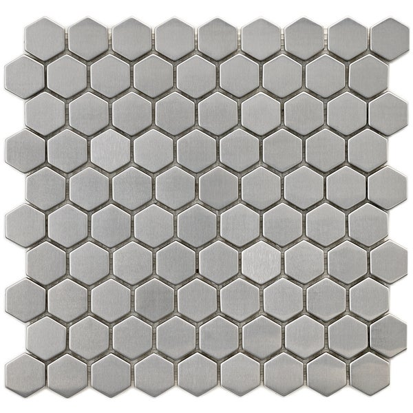 Somertile Chromium Steel Hex 1 25 Inch Metal Over Ceramic