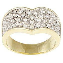 Kate Bissett Goldtone Clear Crystal Fashion Ring