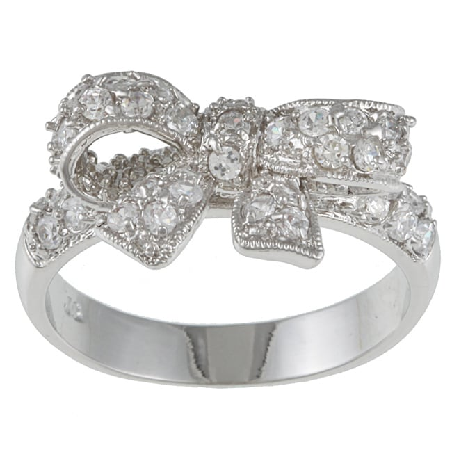 Kate Bissett Cubic Zirconia Bow Ring Free Shipping On Orders