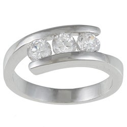Kate Bissett White Cubic Zirconia Three Stone Ring