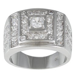 Kate Bissett Silvertone Clear Cubic Zirconia Fashion Ring