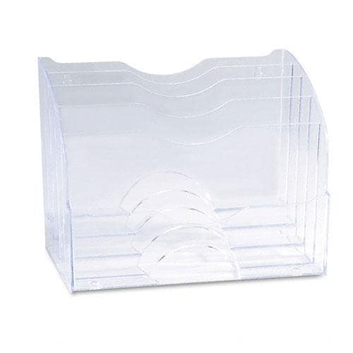 Shop Rubbermaid Clear 2 Way 5 Sections Plastic Organizer