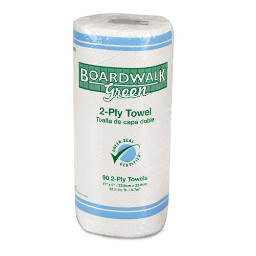 Boardwalk Green Household 2-ply Roll Towels (Case of 30 Rolls) - Thumbnail 0