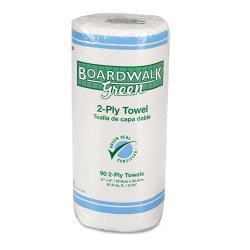 Boardwalk Green Household 2-ply Roll Towels (Case of 30 Rolls)