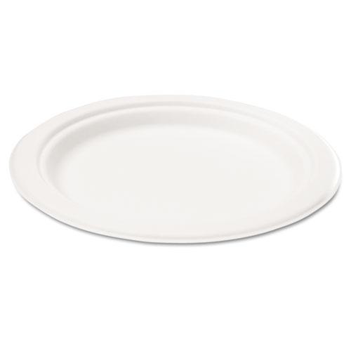 Savannah Supplies Bagasse 10-inch Round White Plates (Case of 50)