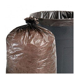 Stout Total Recycled Content Brown 56-gallon Trash Bags (Case of 100)