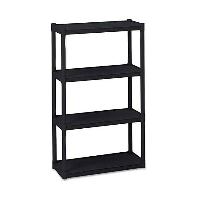 Iceberg Black Rough-n-Ready 4-shelf Open Storage System