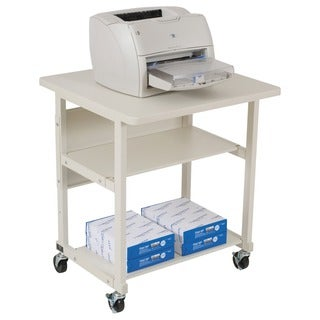 Balt Grey Heavy-duty Mobile 3-shelf Laser Printer Stand