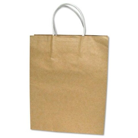 Cosco Premium Large Brown Paper Shopping Bag (Case of 50)