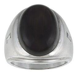 Pre-owned 14k Gold Black Moonstone and 1/6ct TDW Diamond Estate Ring (I-J, VS1-VS2)