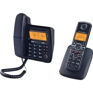 Motorola L702 DECT 6.0 1.90 GHz Cordless Phone - Black
