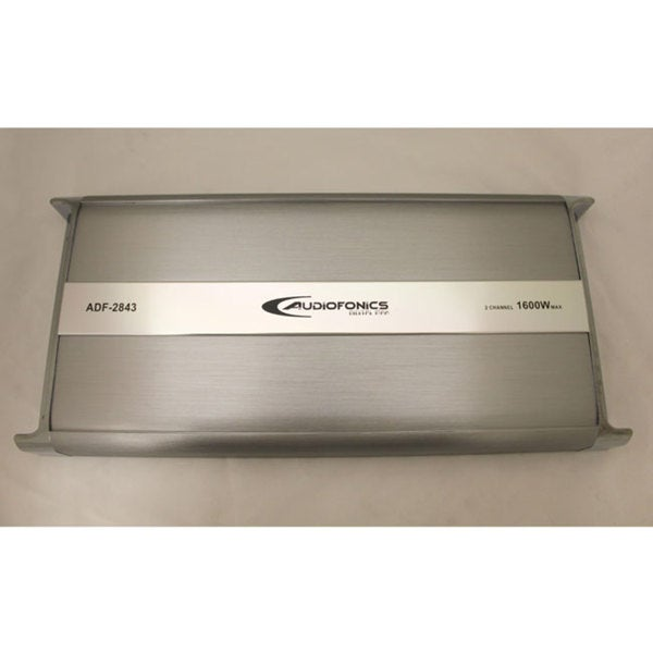 AudioFonics 1600 Watt Max 2 Channel Bridgeable Car Audio Amplifier