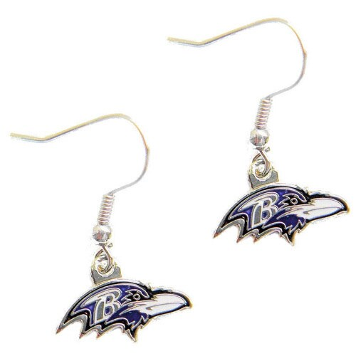 Baltimore Ravens Dangle Logo Earrings