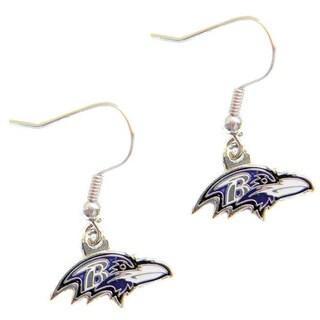 Baltimore Ravens Dangle Logo Earrings