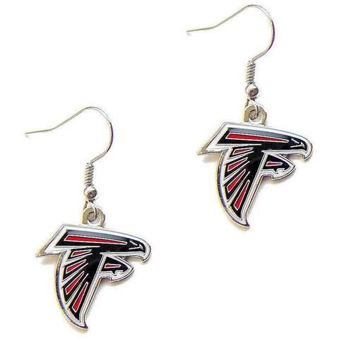 Atlanta Falcons Dangle Logo Earrings